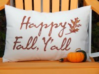 HAPPY FALL Y'ALL outdoor pillow 14x20