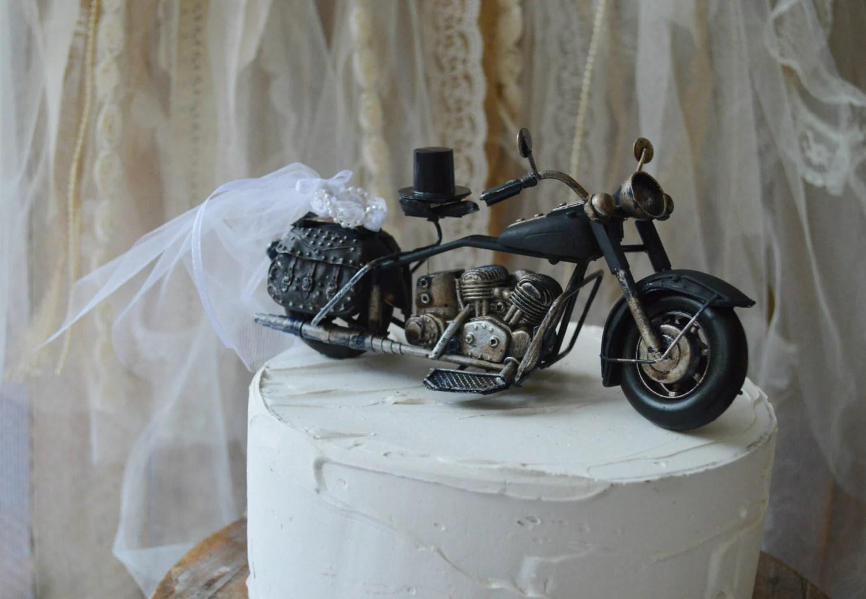 motorcycle ring holder pillow cake wedding ring cake topper zoom