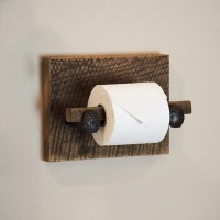 Barn Wood Toilet Paper Holder rustic toilet paper hanger with