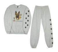 German Shepherd Sweatshirt and Sweat pants set with paw prints