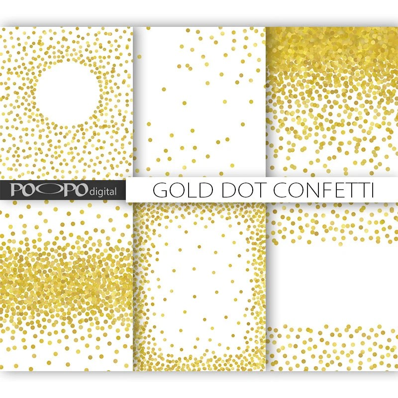 85 x 11 gold dot confetti digital paper invitation template - dot paper template