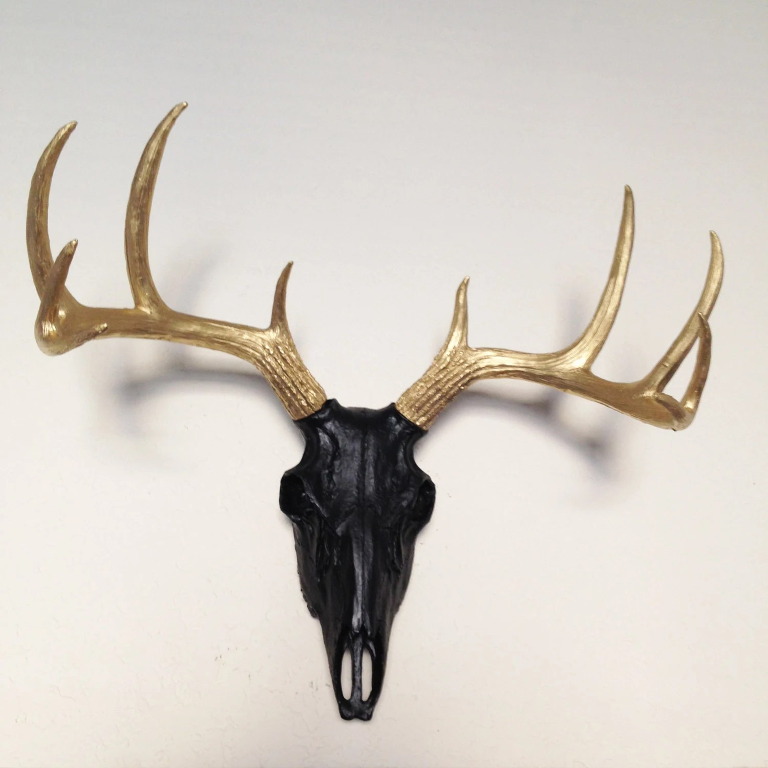 Fake Deer Skull And Antlers Clearance Sale Any Color Faux Deer Skull Wall Mount By