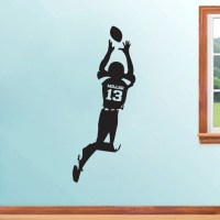 Custom Football Player Personalized Sports Wall Decals