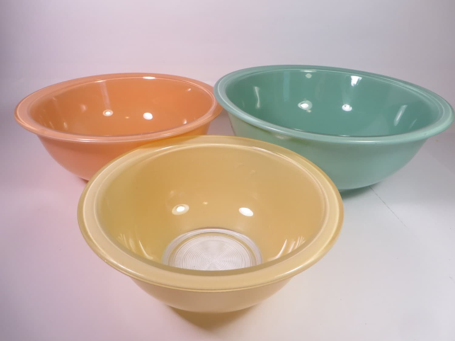 Vintage Pyrex Southwest Mixing Bowls Set Of 3 Pyrex Clear