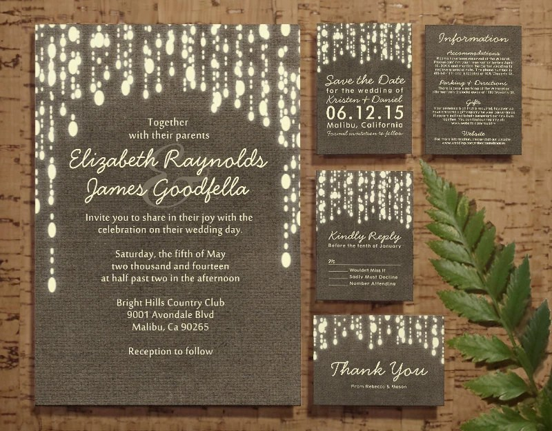 Fall String Lights Wallpaper Weddings Clipart Country String Of Lights Wedding Invitation Set Suite