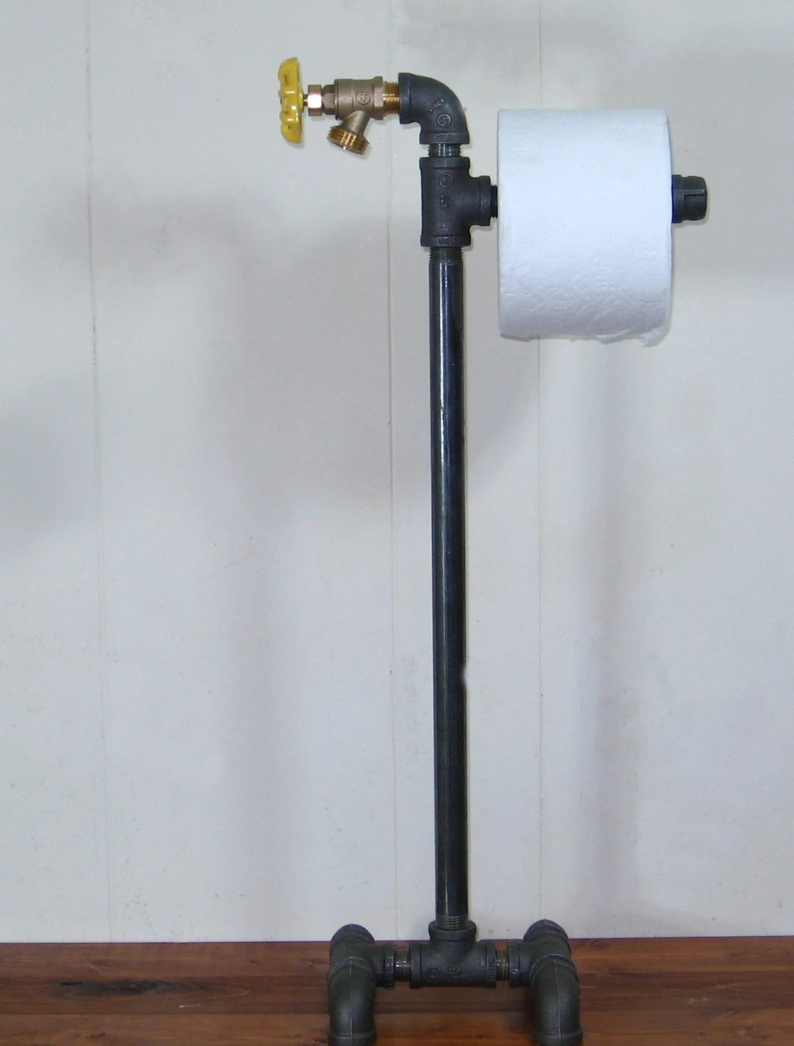 Floor Toilet Paper Stand Steampunk Industrial Machine Age Floor Stand Toilet Paper