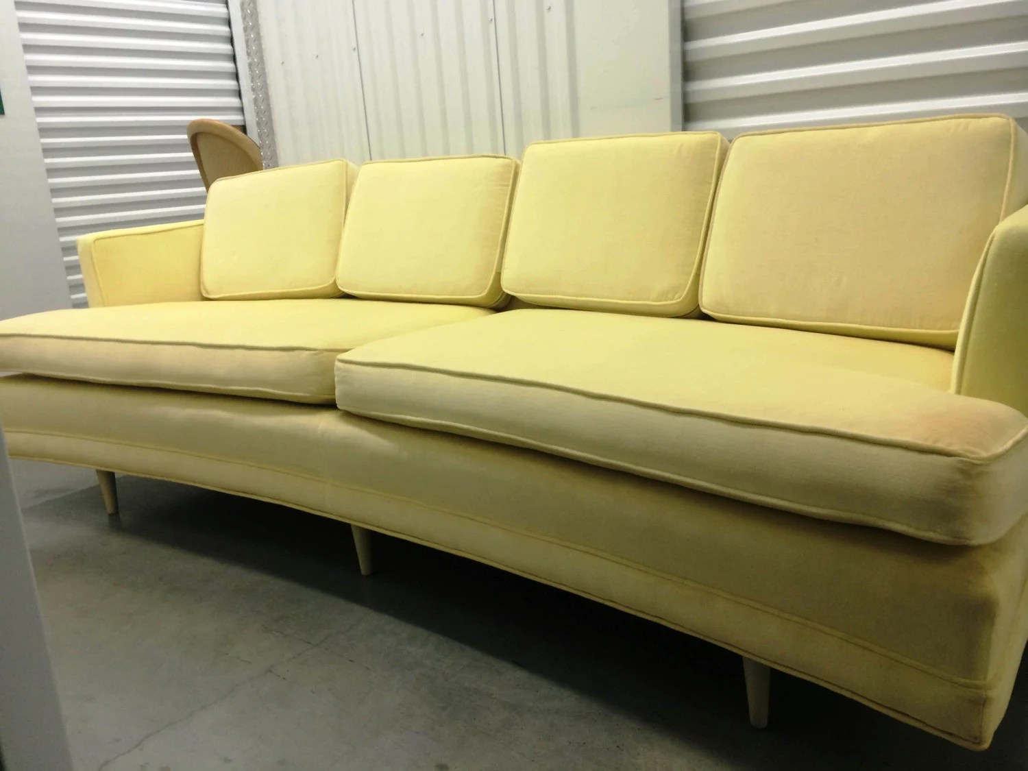 60s Style Couches Sold Vintage Mid Century Curved Sofa In The Style Of