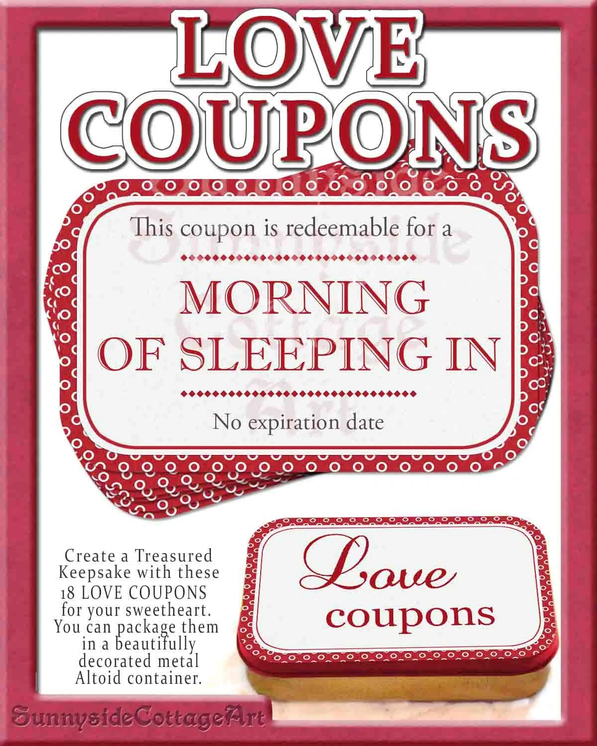 Romantic And Naughty Printable Love Coupons For Him \u2022 Glitter N Spice - homemade coupons for boyfriend ideas