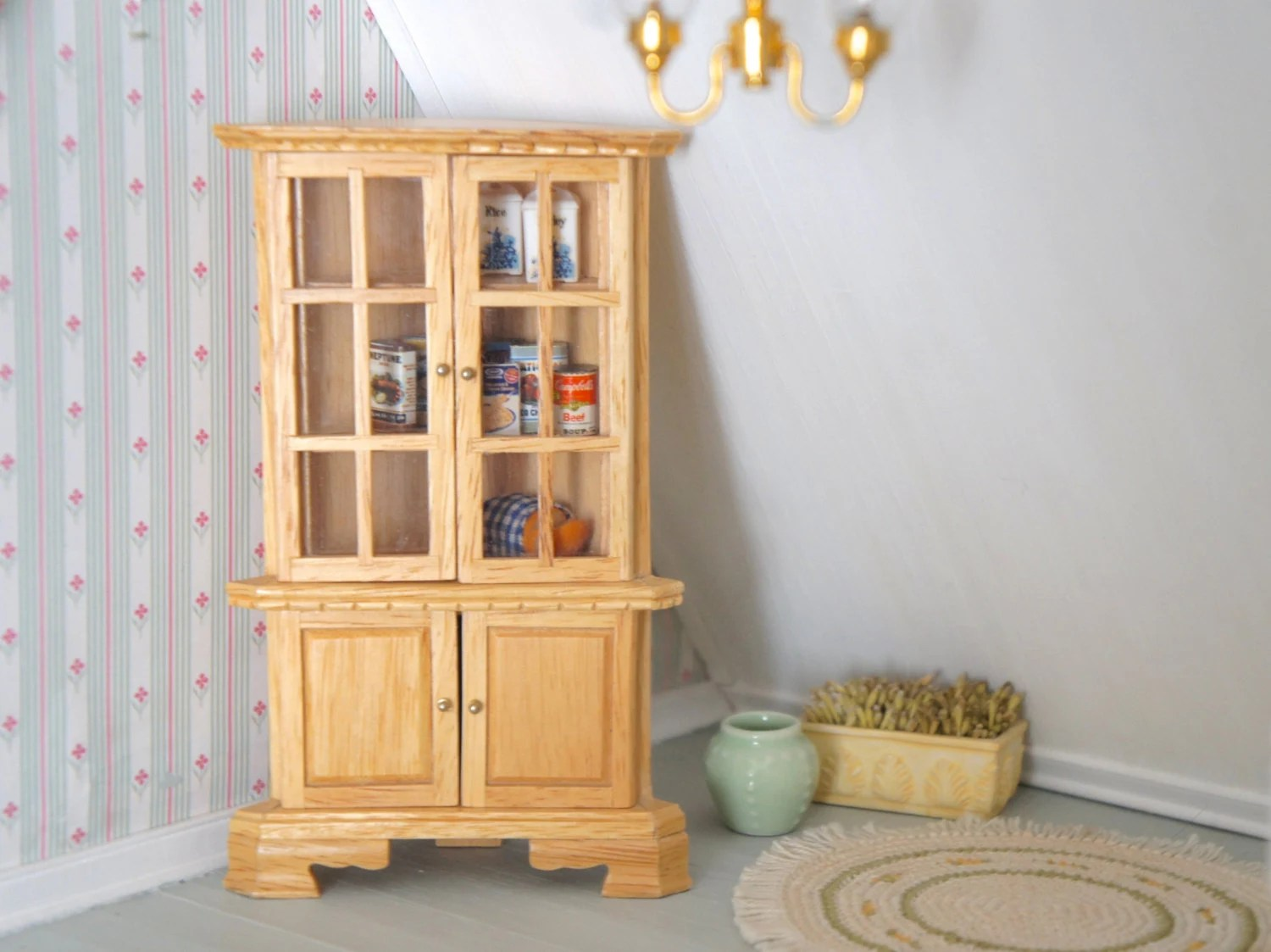 Dolhouse Pantry Cabinet Dollhouse Kitchen Furniture
