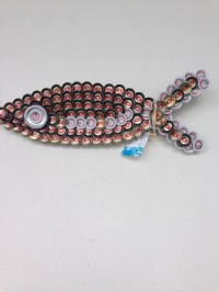 Items similar to Beer Bottle Cap Fish Wall Art on Etsy