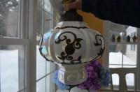 vintage Carl Falkenstein iridescent pendant lamp by ...