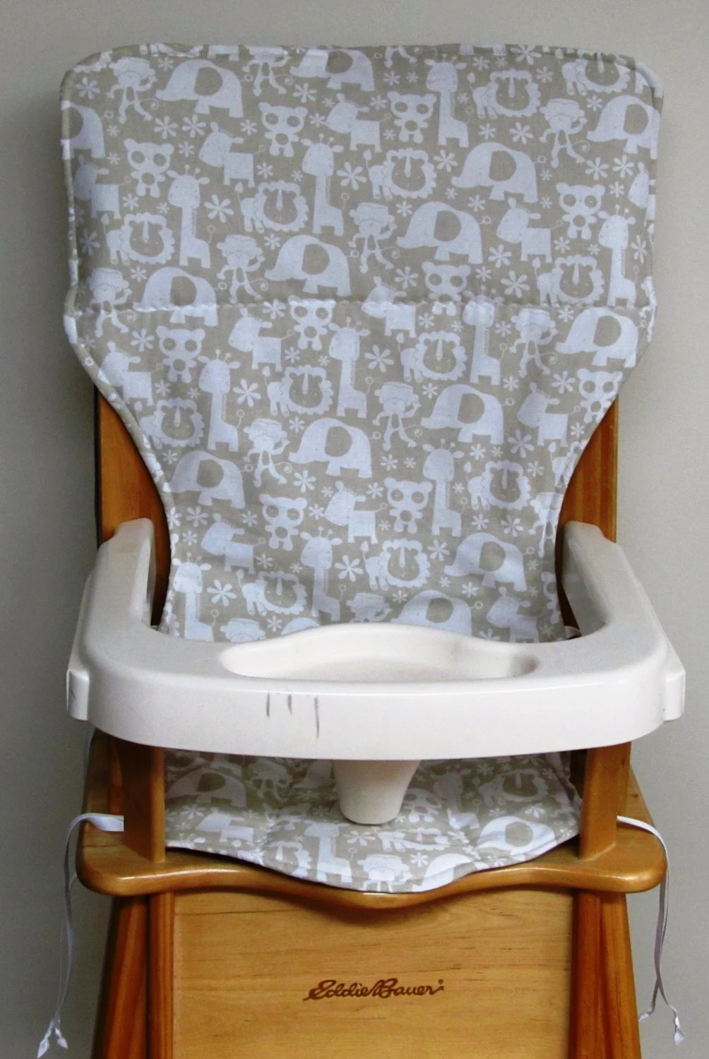 Eddie Bauer Wood High Chair Pad Replacement Coverwhite
