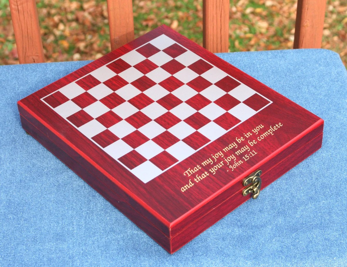 Personalized Chess Set Gift Engraved Chess Set Personalized Unique Gift For Birthdays