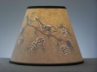 Pine Cone & Chickadee Lamp Shade-Clip on Lamp Shade-Pine
