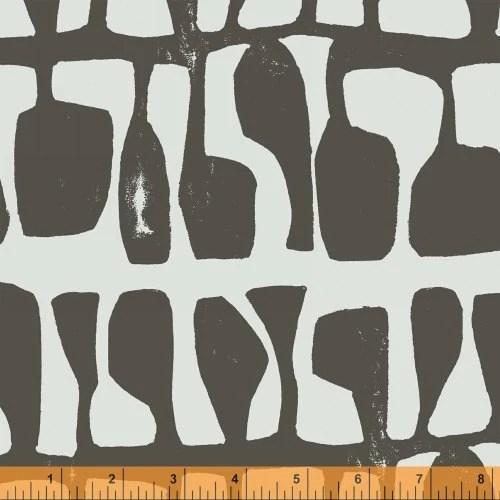 Lotta Jansdotter Fabric - Follie - Follie Charcoal