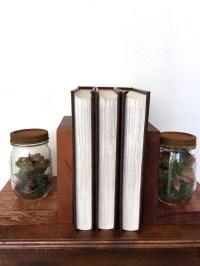 Rustic Mahogany and Mason Jar Bookends