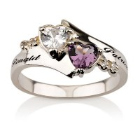 Engraved Promise Ring Couples Birthstone Ring by ...