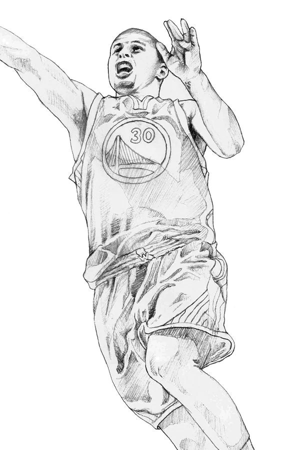 Steph Curry Coloring Pages Arendastroy