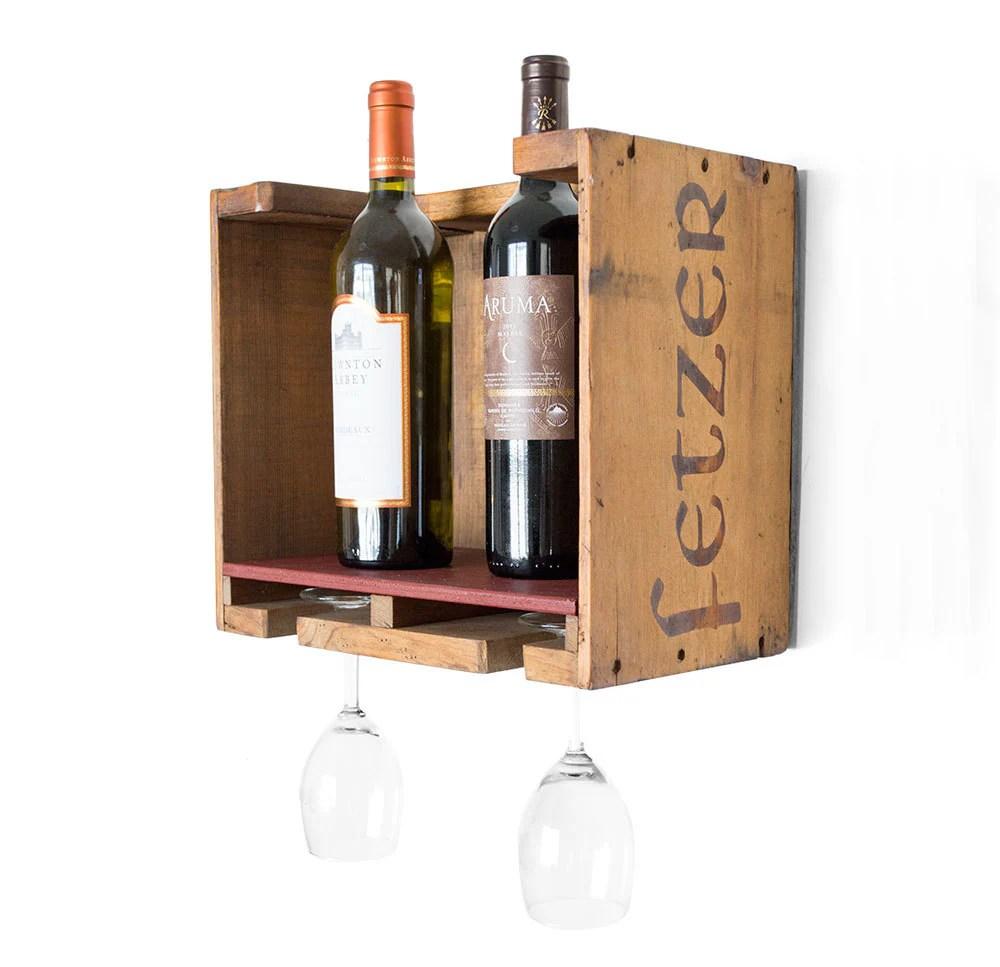 Wood Wine Rack Vintage Wooden Wine Box Rustic Wine Rack