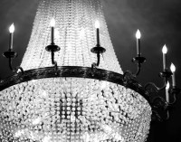 Chandelier Wall Art Black and White Photography Paris Print
