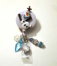 Olaf Frozen Disney Retractable Reel ID Badge Holder by ...
