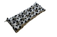 cow print bench soft cow animal print country tufted ...