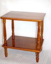 Items similar to Vintage Hardwood Side Table, Spindle Legs ...
