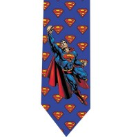 Superman Tie skinny slim tie model 1 by TopTies on Etsy