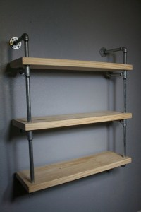 Wall Mounted Industrial Pipe Media Shelving, Industrial ...