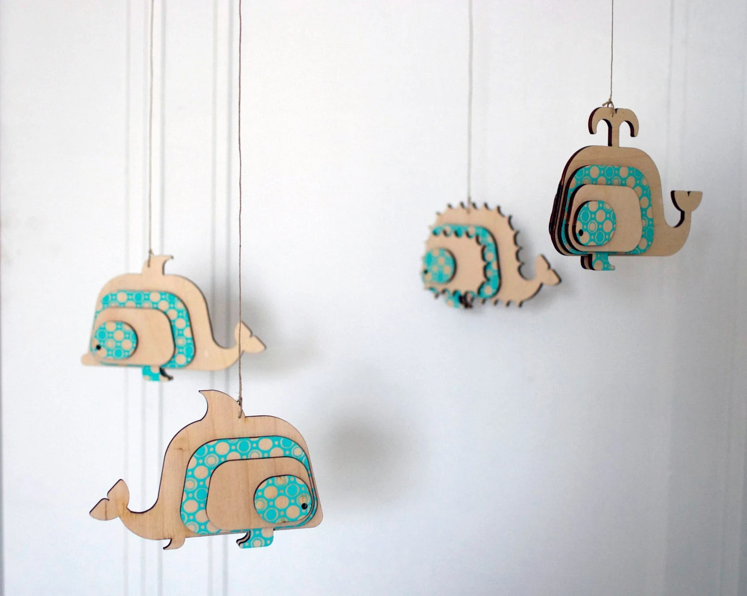 Wooden Baby Mobile Unique Crib Baby Mobile Lasercut Wood Mobile Sea Theme