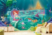 Little Mermaid Wall Mural Ariel Wallpaper Wall dcor Wall