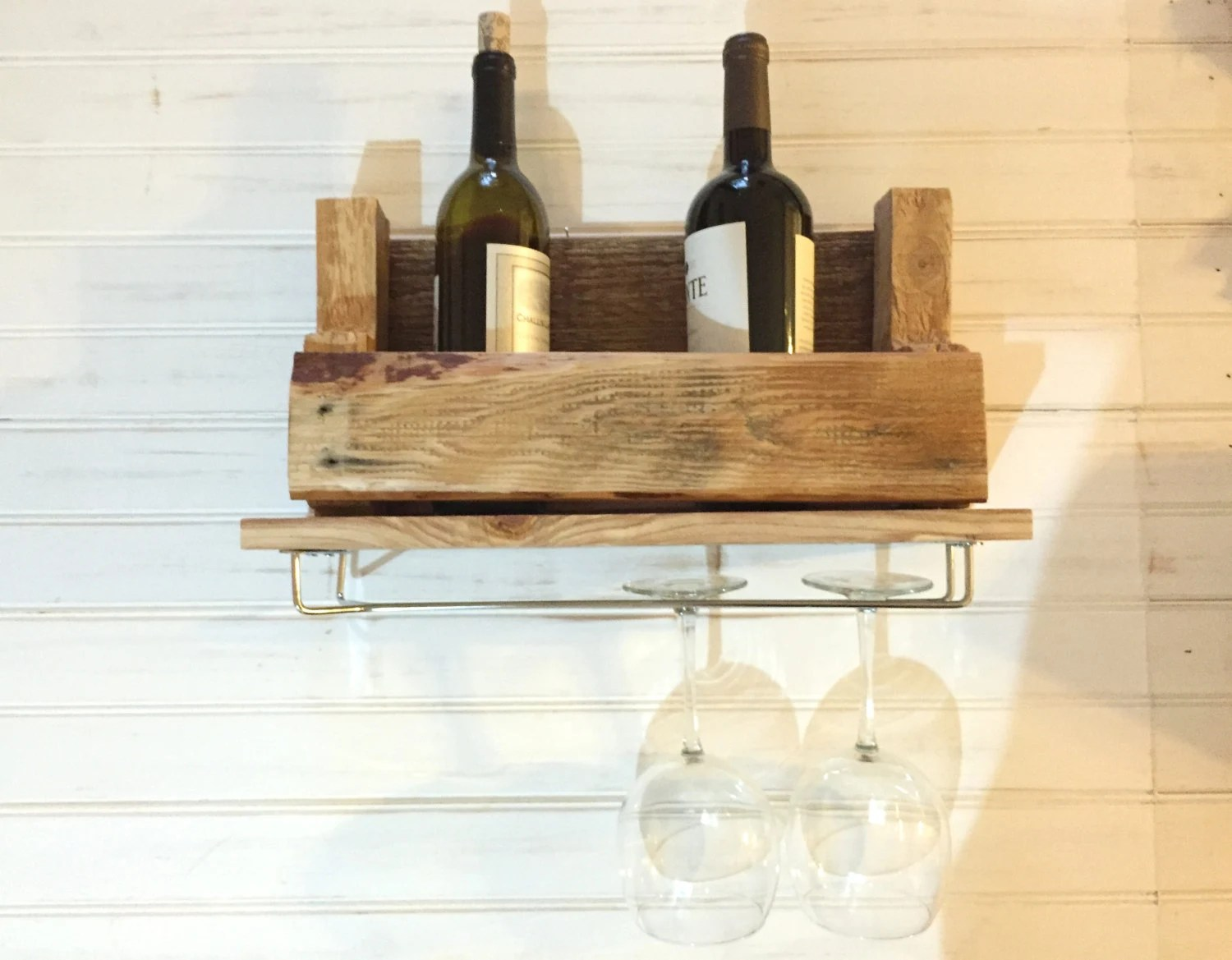 Small Pallet Wood Wine Rack Free Shipping By Deeswoodshop