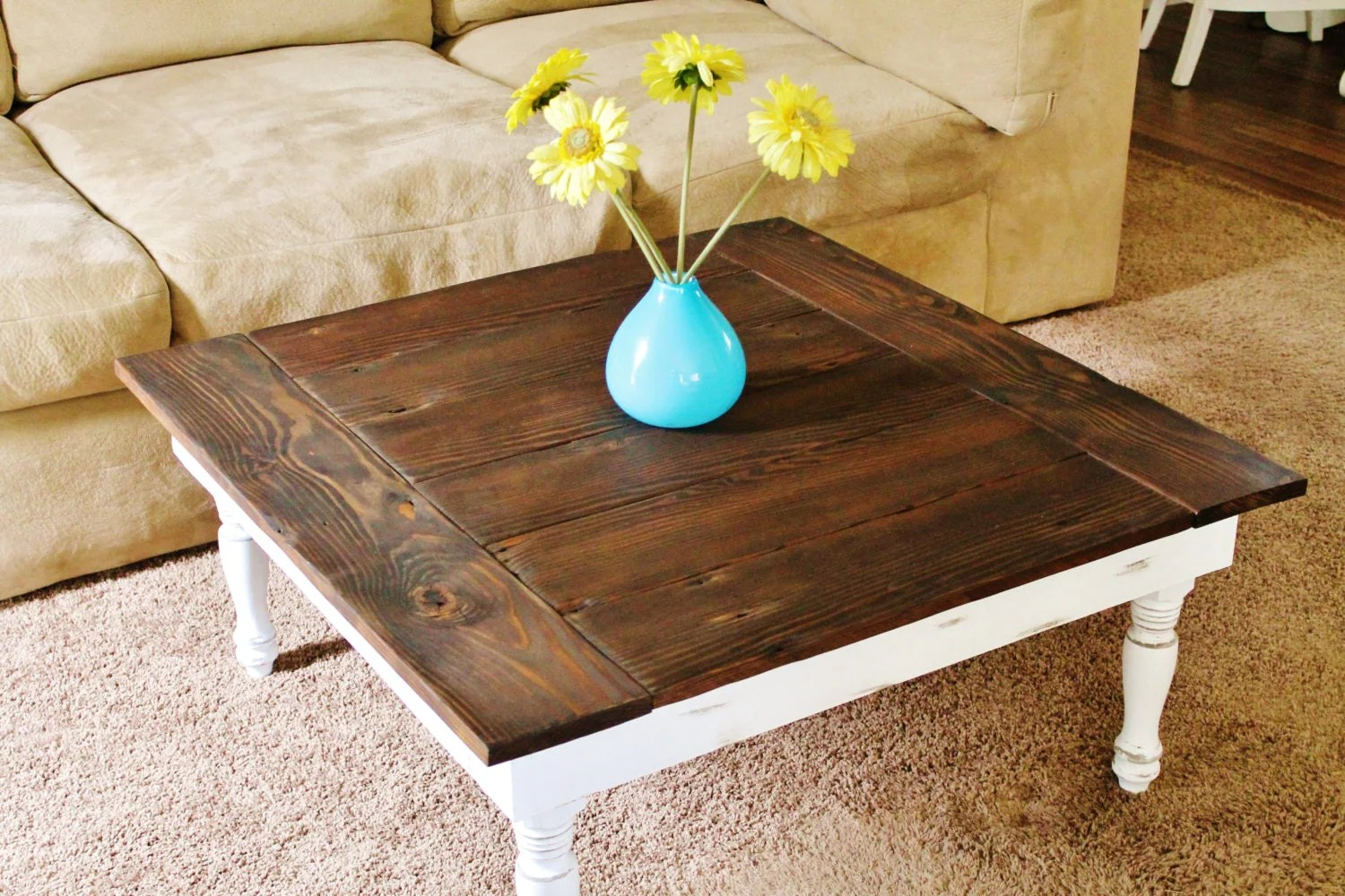 Farmhouse Coffee Table Etsy Reclaimed Wood Coffee Table Rustic Coffee By