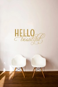 Hello Beautiful Quote Wall Decal Custom Vinyl Art Stickers