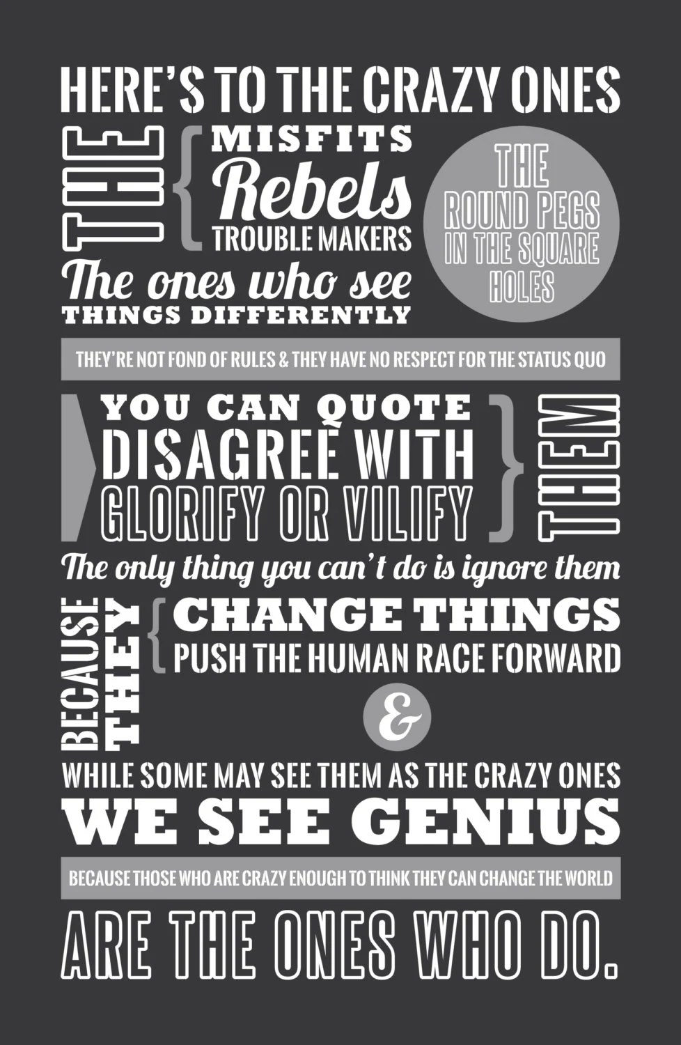Steve Jobs Quotes Your Time Is Limited Wallpaper Steve Jobs Here S To The Crazy Ones Steve Jobs By