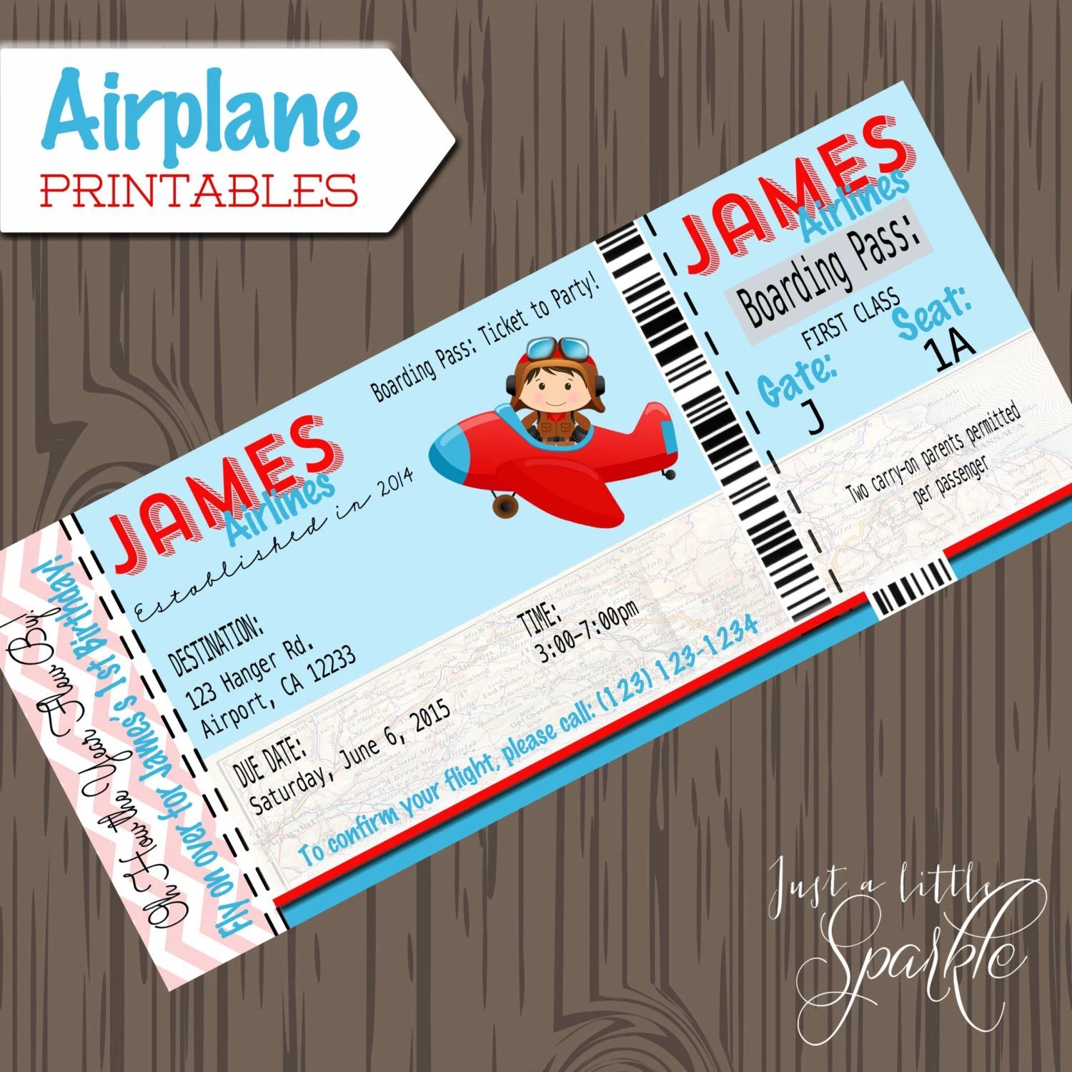Pilot Invitations Cards Diy Lil Pilots Airplane Birthday