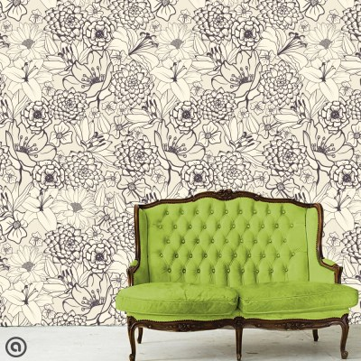 Removable Wallpaper-Just Sketched Peel & Stick Self Adhesive