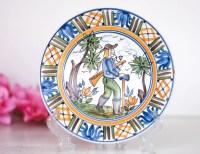 Italy Majolica Plate: Italian Decorative Wall Hanging Plate