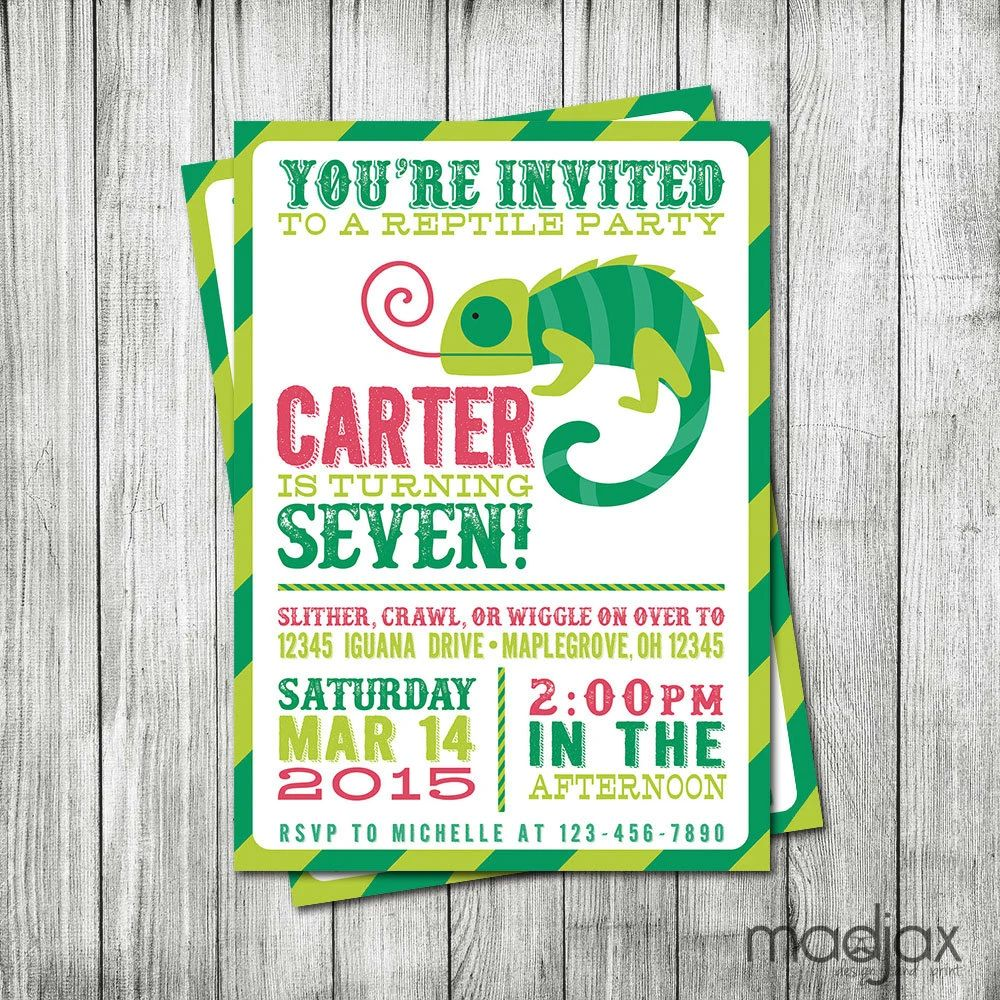 Reptile Party Invitations Inspirational Interior Style Concepts