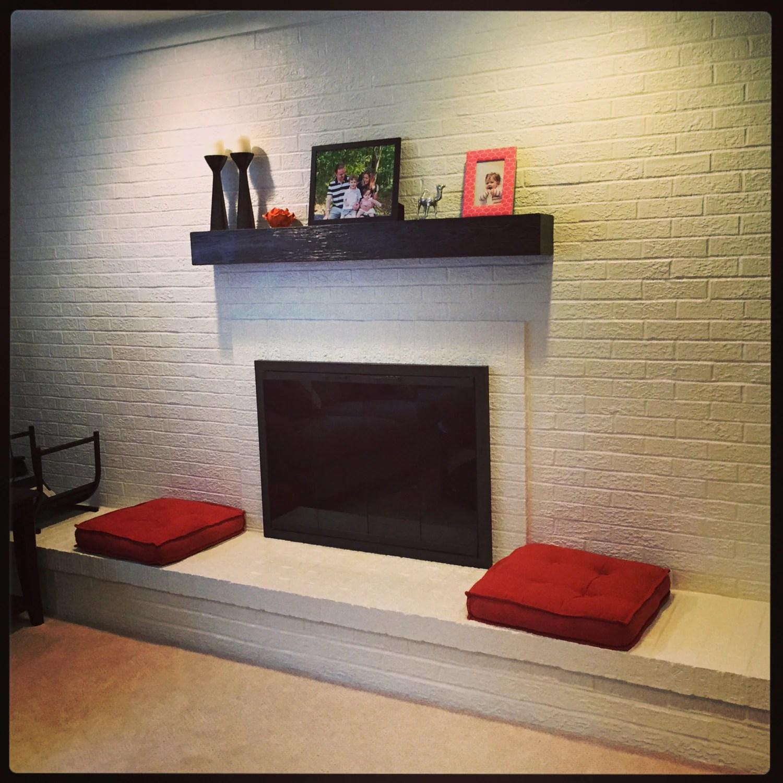 Black Fireplace Mantel Rugged Wood Mantel60 Long X