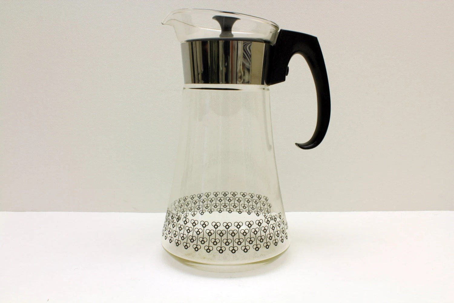 Heat Proof Pitcher Large Vintage Pyrex Coffee Carafe Glass Coffee Pitcher Heat