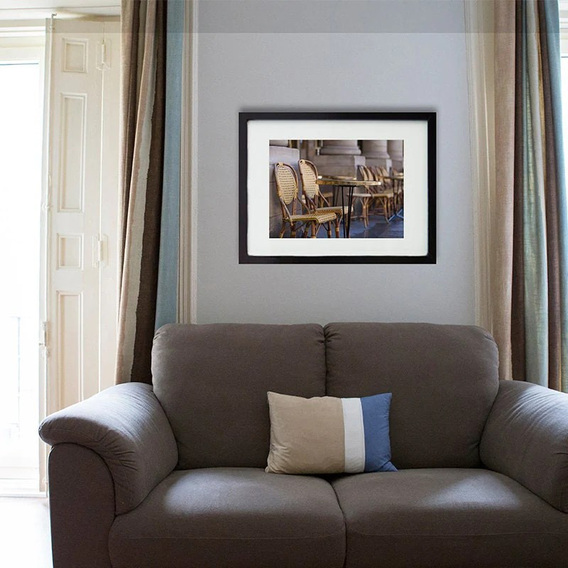 20x30 Frame Ikea Paris Photography/cafe Chair/cafe By Photoforwall On Etsy