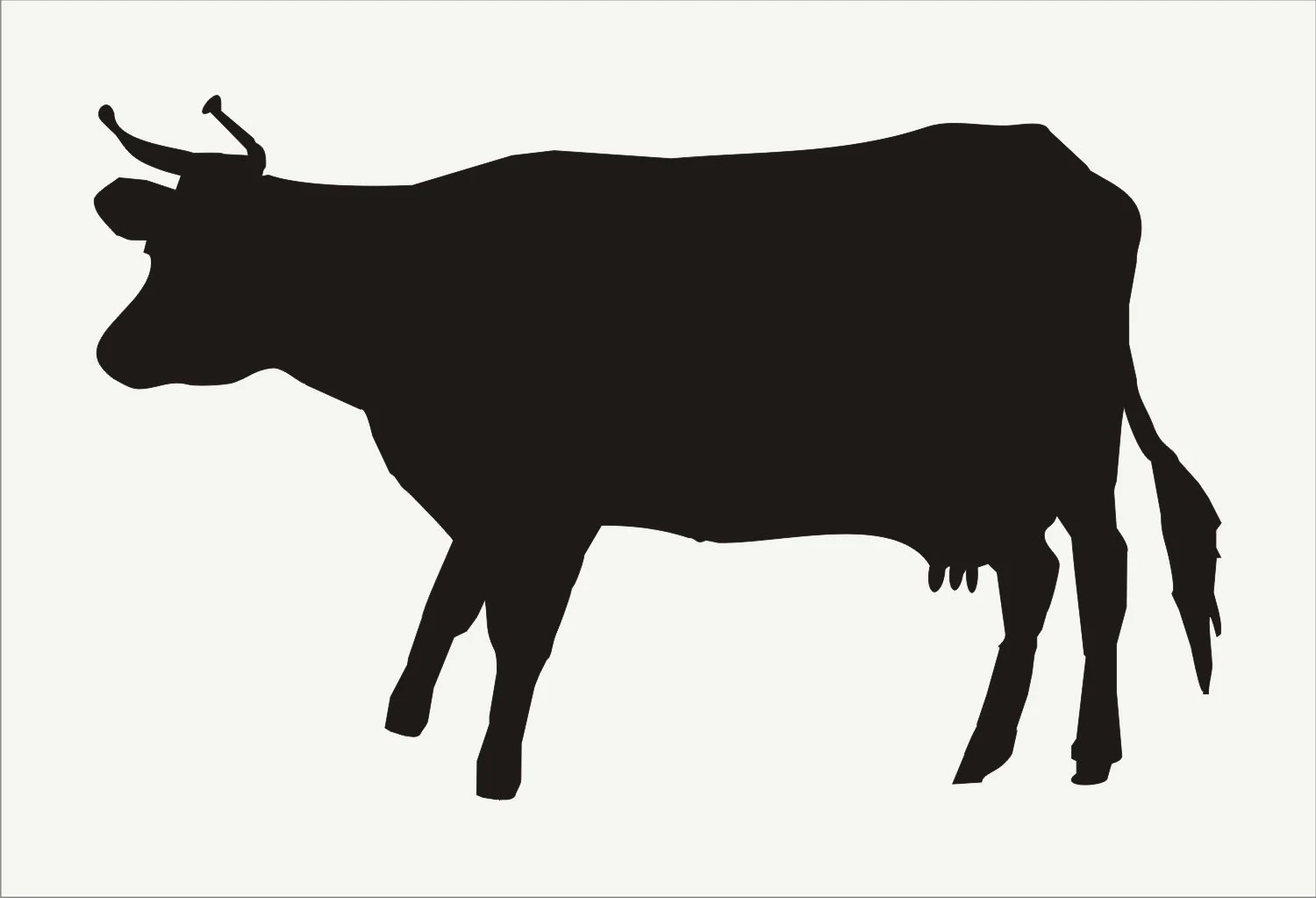 Steer Stencil Cow Stencil Animal Stencils 5 Sizes Available Create