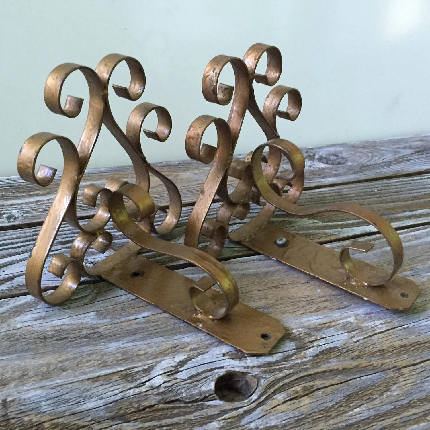 Gold Shelf Brackets Wrought Iron Shelf Brackets Wall Bracket