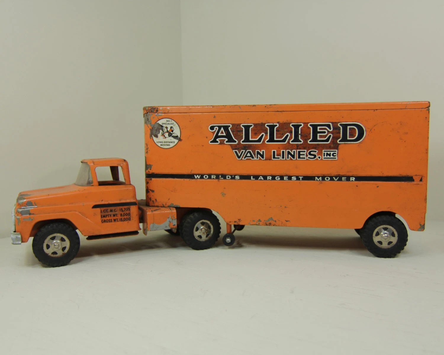 Toy Moving Truck Allied Van Lines Tonka Truck Toy Tractor Trailer Vintage Metal
