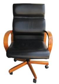 Mid Century Modern Black Leather Minimalistic Executive ...