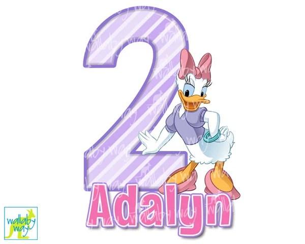 Birthday Daisy Duck Clip Art  Daisy Duck Birthday Printable Iron On