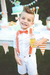 Orange Polka Dot Bow Tie & Suspenders boys suspenders and bow