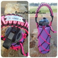 Personalized Paracord Hydro flask holder. by LivePonoParacord