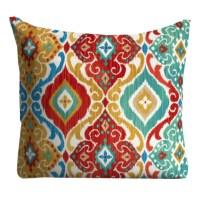 Red Blue Outdoor Pillows Throw Pillow Patio Pillows Outdoor